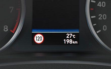 Höchstgeschwindigkeitswarnung inkl. Verkehrschildererkennung (SLIF)